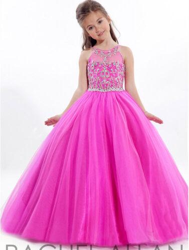 Stock Ball Gown Party Princess Dance Pageant Dress Formal Kids Flower Girl Dress
