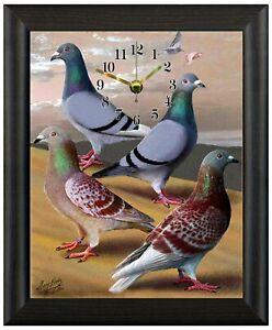 Racing pigeon christmas gift present xmas gift clock wall or freestanding