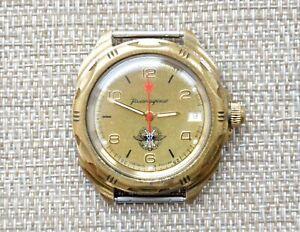 Uhr-UDSSR-VOSTOK-KOMANDIRSKIE-mechanisch-Sowjet-Russische-Armbanduhr-Wostok-selten