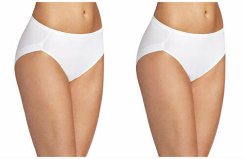 EDGIES WHITE BRIEF HIGH CUT SIZE XL 14 16 FEEL /& SEE NOTHING KNICKERS A104 NEW