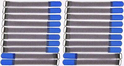 Cavo 20x Nastro Di Velcro Fk 20 Cm X 20 Mm Blu Nastro Di Velcro Velcro Fascette Per Cavi M Nastro Asola-mostra Il Titolo Originale