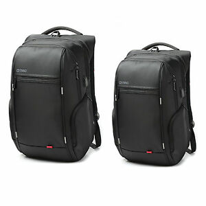 "Anti-theft 15.6""/17.3"" Laptop Notebook Backpack USB Port School Bag Travel,Black"