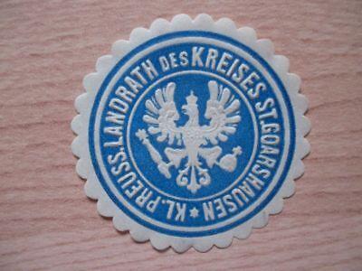 (12111) Siegelmarke - Landrat Des Kreises St. Goarshausen HüBsch Und Bunt