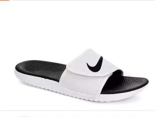 Men Nike Kawa Adjust Slide Sandals White-Black 834818-101