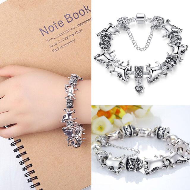 Charm Animal Bracelet Glass Beads Bracelets Horse Bangle Fashion JewelSE