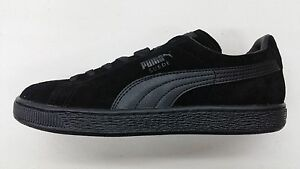 all black puma suede