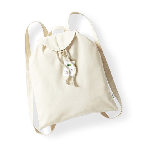 W185 Westford Mill Organic Festival Backpack 100/% Cotton Rucksack Bag
