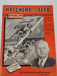 Sept 1950 HATCHERY & FEED magazine Sam Honegger Cover Fairbury, ILL -Big H Feeds