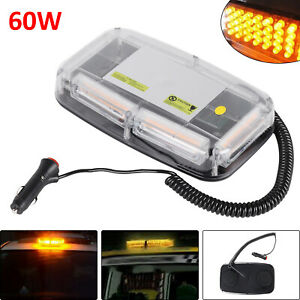 60W-LED-Amber-Warning-Strobe-Light-Recovery-Car-Flashing-Magnetic-Beacons-Lights