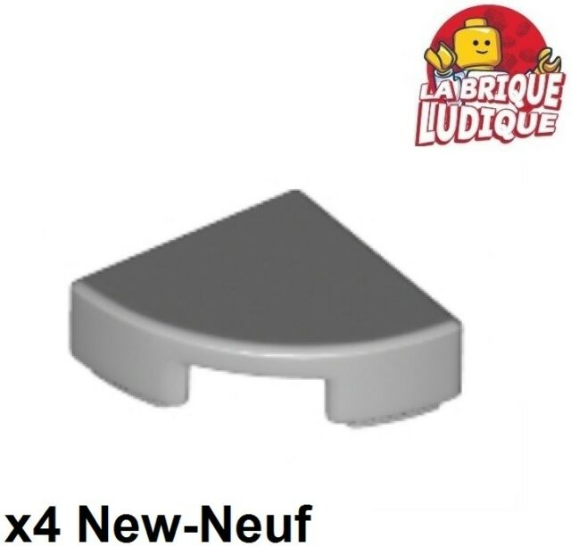 Lego 4x Tile Round plate smooth corner macaroni 2x2 grey//l b gray 27925 NEW