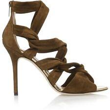 5d6078b348e9 Jimmy Choo Viola 110 White Suede   Hot Fix Crystal Sandal PUMPS Heel ...