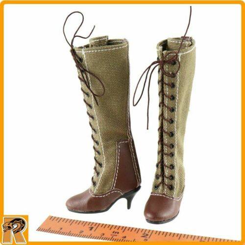 - 1//6 Scale for Feet Tall Boots Afrika Female Officer Alert Line Figures