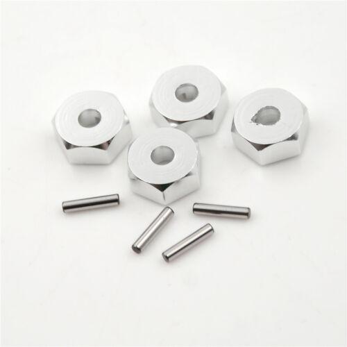 RC 1:10 5MM Thickness 12mm Wheel HEX 5.0 Hubs Drive Adaptor Pins /& Screws
