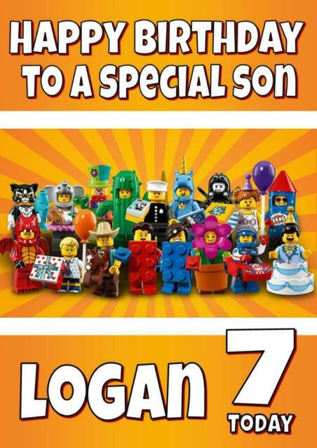 personalised birthday card Lego ninjago any name//age//relation.