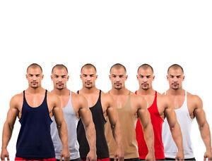 Mens Gym Vest Bodybuilding Muscle Stringer Plain Raftaar® Racerback Fitness Lot