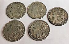 Lot of 5 Rare Key Dates Morgan Dollar Reproduction Coins