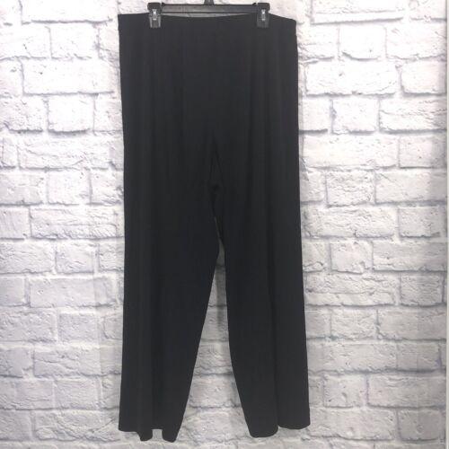 Exclusively Misook Plus Size 2x 100% Acrylic Black