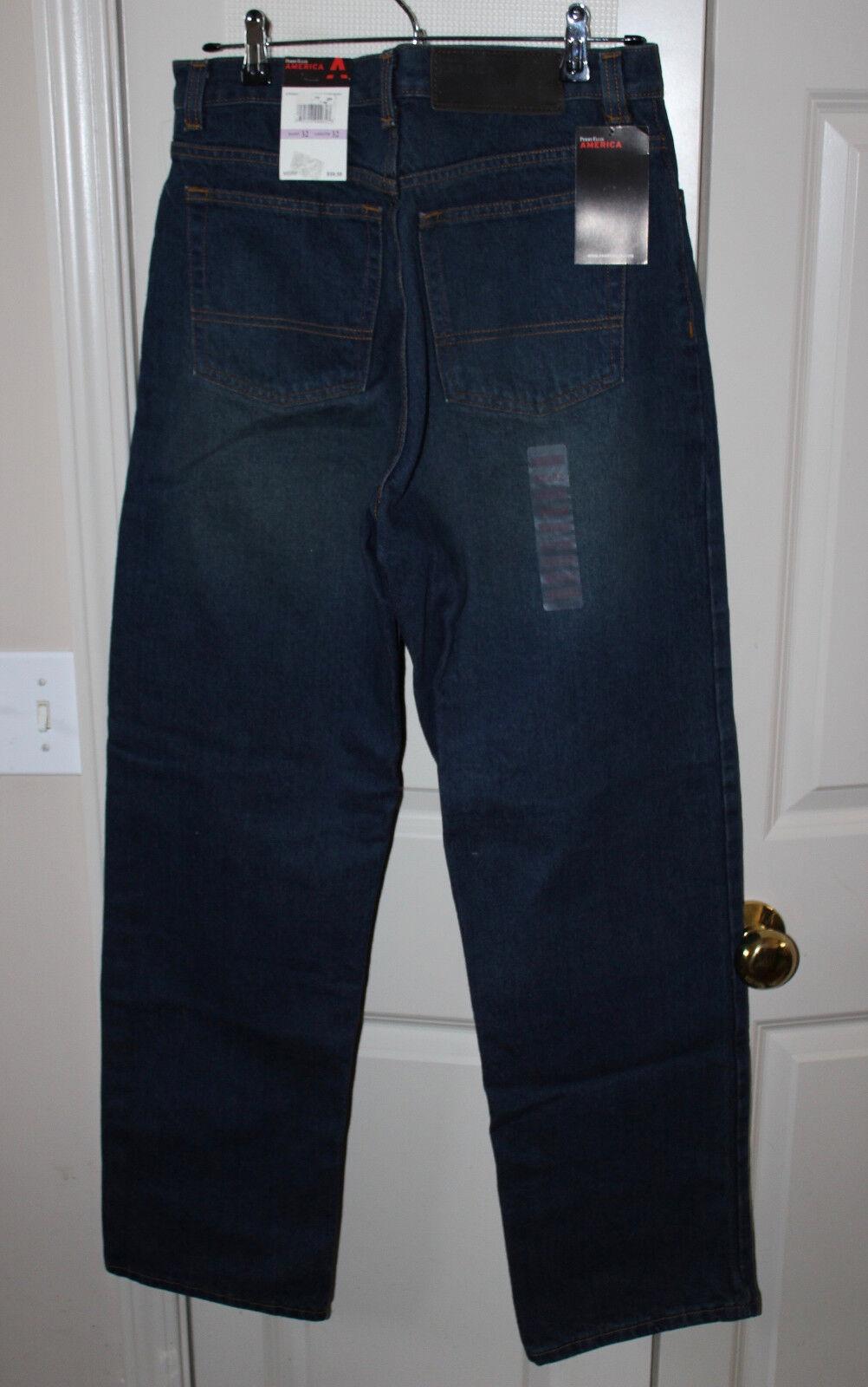 Men's PERRY ELLIS Dark bluee Stonewash Jeans 32X32 NWT