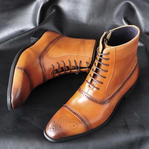 Mens Brogue High Top Boots Evening Business Runway Court Smart Banquet Boots