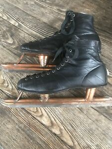 deb46e40c 1920 Leather Boots Antique Vintage Old CCM Ice Skates Hockey Speed ...