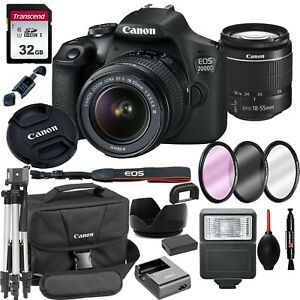 Canon-EOS-2000D-Rebel-T7-24-1MP-DSLR-Camera-18-55mm-Lens-18PC-Bundle