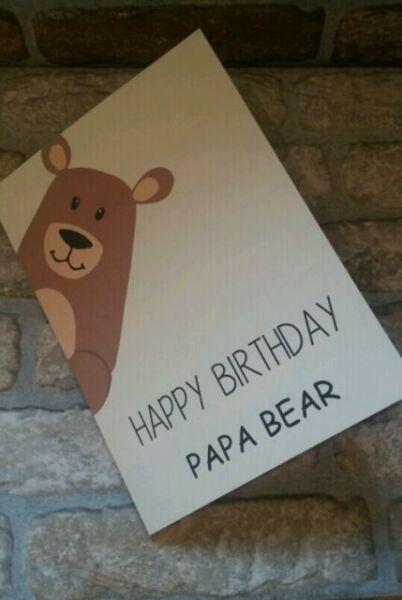 Papa Bear A5 Greetings Card