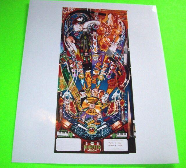 Monster Bash Pinball Machine Promo Photo Original NOS Williams 1998 Game Image