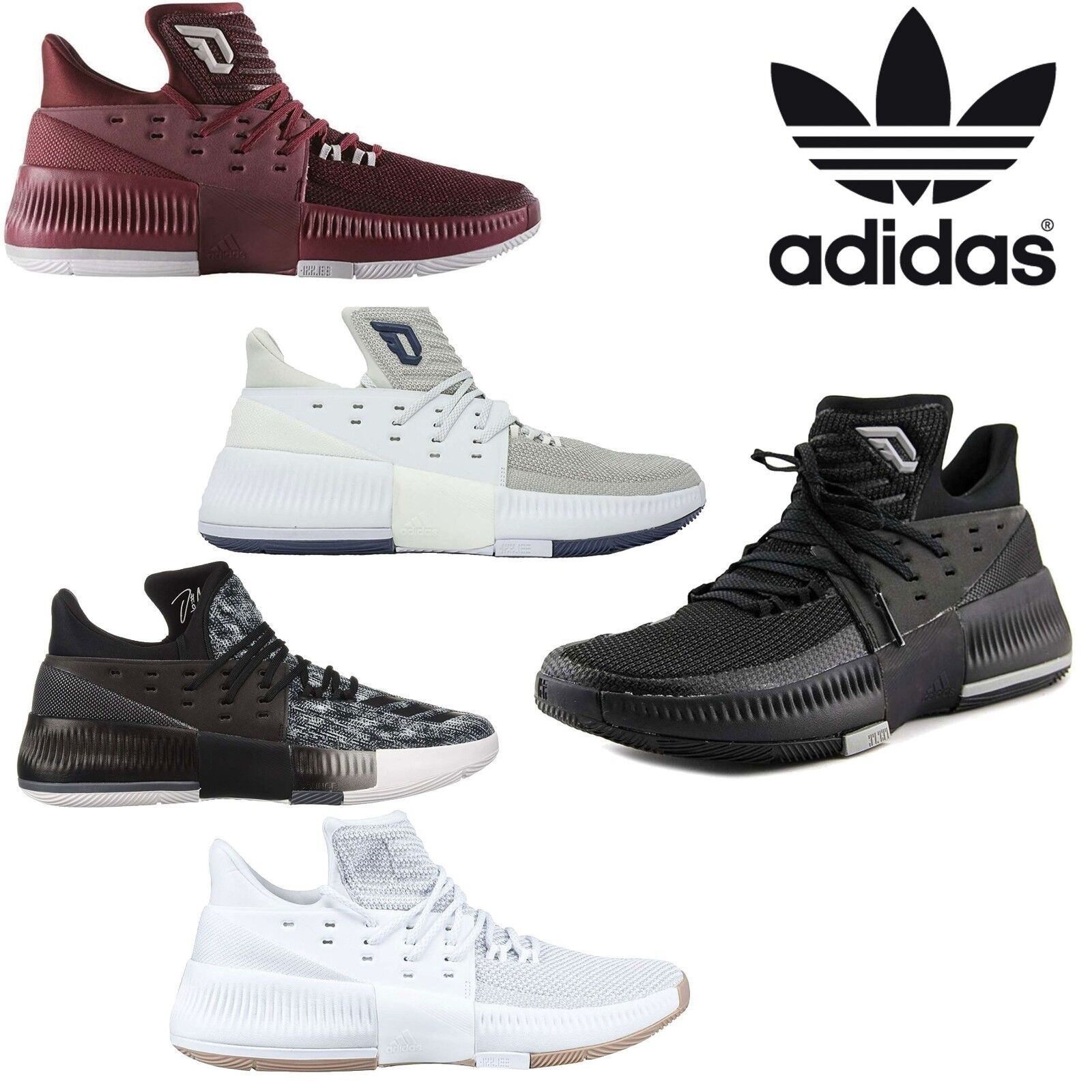 Adidas NEW Men's D Lillard Dame 3 Basketball shoes Lace Up Hi-Top Sneakers