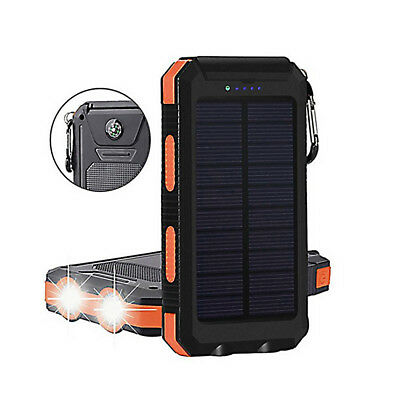 Portable Charger Solar Power Bank 10000mah External