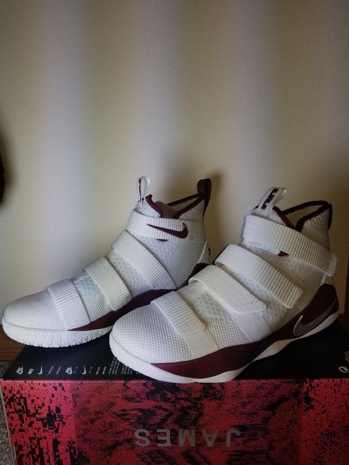 Nike LeBron Soldier XI TB Promo White/Red (943155-114) Men's Size 10.5