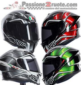 Casco-Agv-k5-Hurricane-Nero-rosso-verde-bianco-integrale-fibra-occhiale-parasole