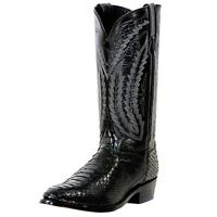 Dan Post Python Snakeskin Exotic Cowboy Boot Omaha Black Dpp3037