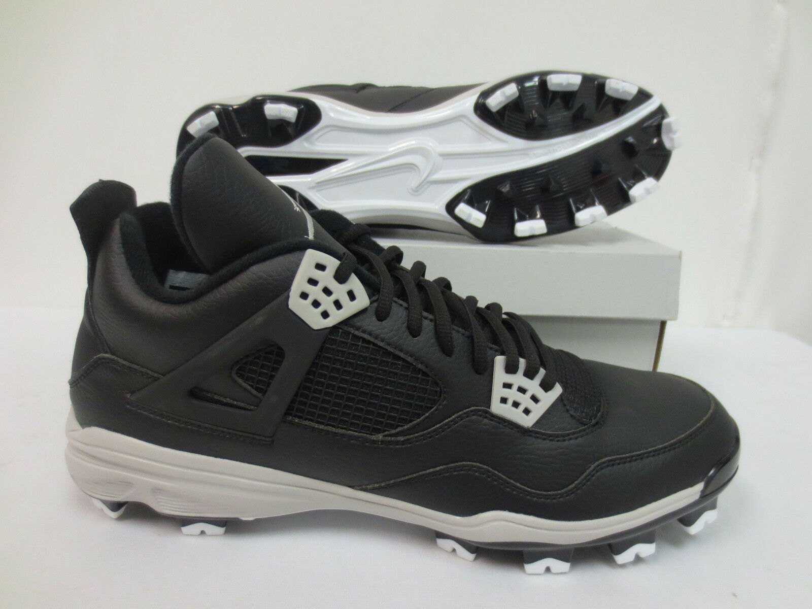JORDAN RETRO IV 4 OREO MCS BASEBALL CLEATS SIZE 15 807709 010 JUMPMAN AIR JORDAN