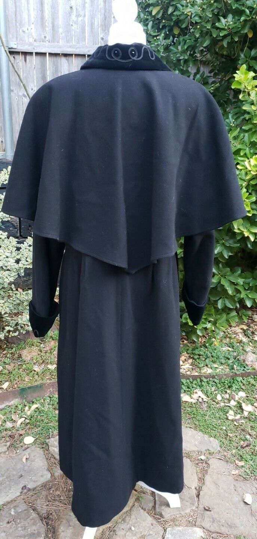 Vtg Donnybrook Black Velvet Embroidery Edwardian … - image 5