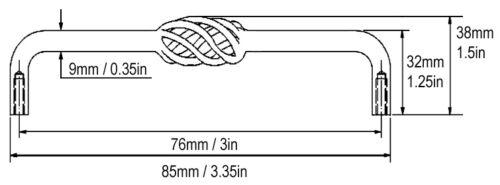 "3/"" Antique Copper Birdcage Kitchen Bathroom Cabinet Drawer pulls 76mm"