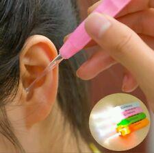 Kids Baby Safe LED Flash Lighting Ear Pick Spoon Ear wax Curette Remover