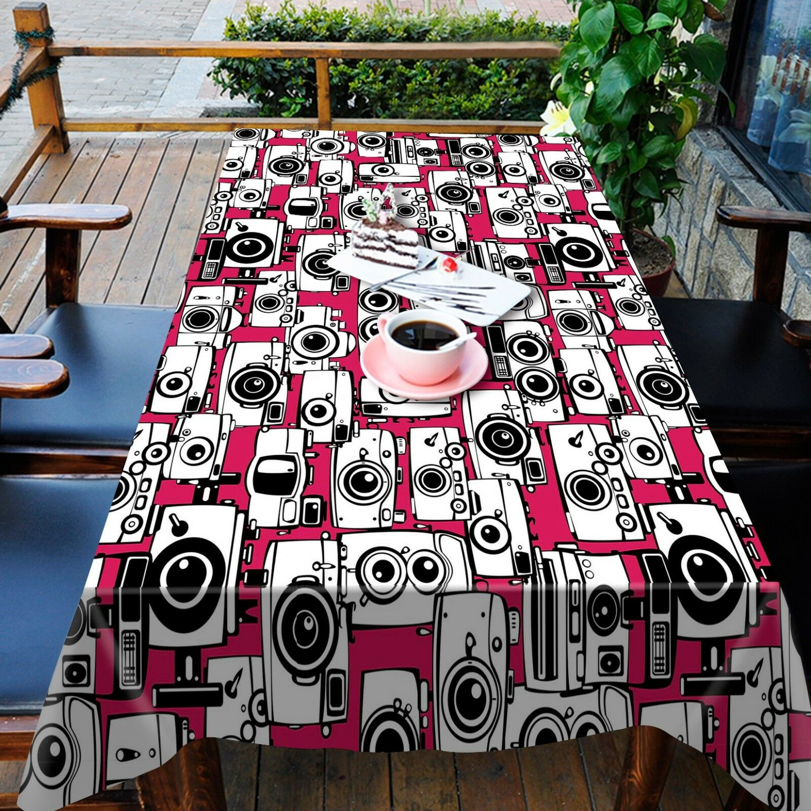 Caméra 3D Nappe Table Cover Cloth fête d'anniversaire AJ papier peint Royaume-Uni Citron