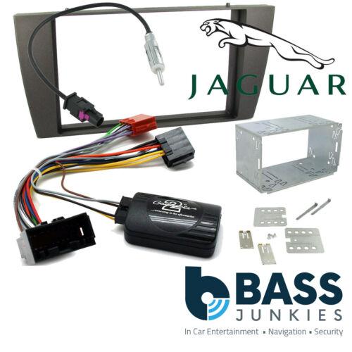 DFPK-14-01 Jaguar X-Type 02/> Car Stereo Double Din Fascia ISO Steering Stalk Kit