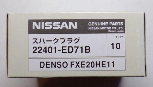 4pcs Iridium Spark Plug 22401-ED71B FXE20HE11 for Nissan Versa 2009-2010 1.6L L4