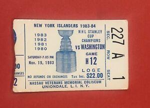 1983-NY-Islanders-Ticket-Stub-vs-Capitals-HOF-ers-Bossy-Trottier-Gartner-Goals