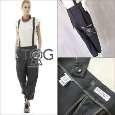 £1.2K New Brunello Cucinelli Women Wool Oversized Trouser Dungaree Overall IT42