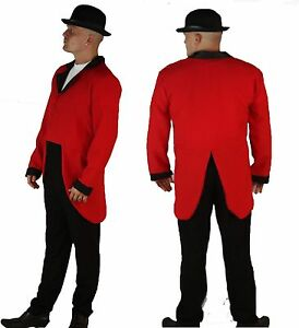 Wear-It-Red-Fox-Hunt-Hunters-Huntsman-Fancy-Dress-Tails-Jacket-amp-Bowler-Hat