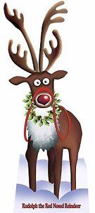 Rudolph The Red Con Naso Renna Sagoma Di Cartone Natale Arredo Per