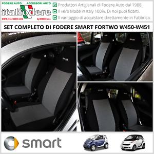 FODERE COPRISEDILI Smart Fortwo W450/W451 1998>2015 SU MISURA Foderine Grigio308