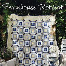 NEW BOOK: Farmhouse Retreat: 3 Log Cabin Quilts & Wool Applique Pillow