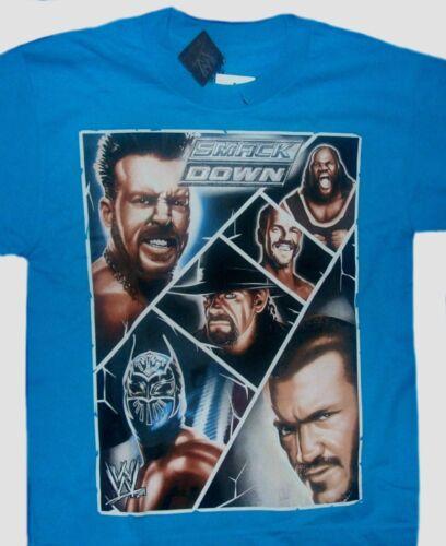 WWE Smack Down t-shirt Size 10-12 14-16 18-20 New Childs Sheamus Orton Sin Cara