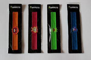 Disney-The-Muppets-Slap-Bracelet-Set-Animal-Miss-Piggy-Kermit-Gonzo-Bracelets
