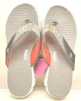 Skechers Women S Goga Mat Technology Flip Flop Gray Size 9