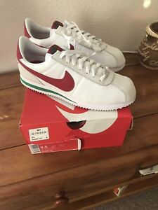 Image is loading Nike-Cortez-TXT-White-Red-Green-SZ-9- 430cc46426d5