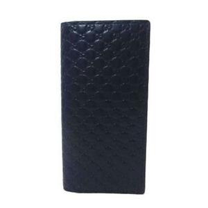 Gucci-Men-039-s-Microguccissima-GG-Logo-Navy-Leather-Long-Wallet-544479